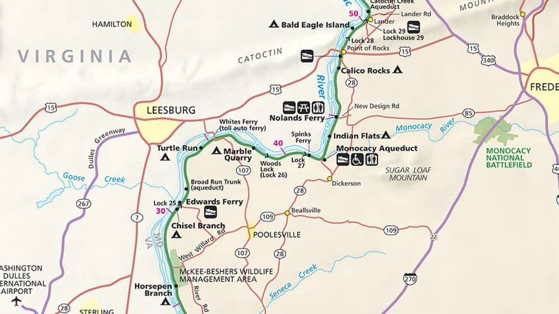 Map - C&O Canal Trail