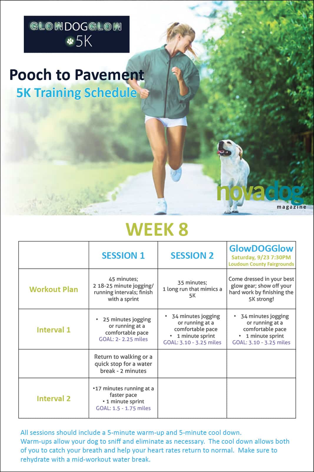 Running with Dogs Canine Training Calendar