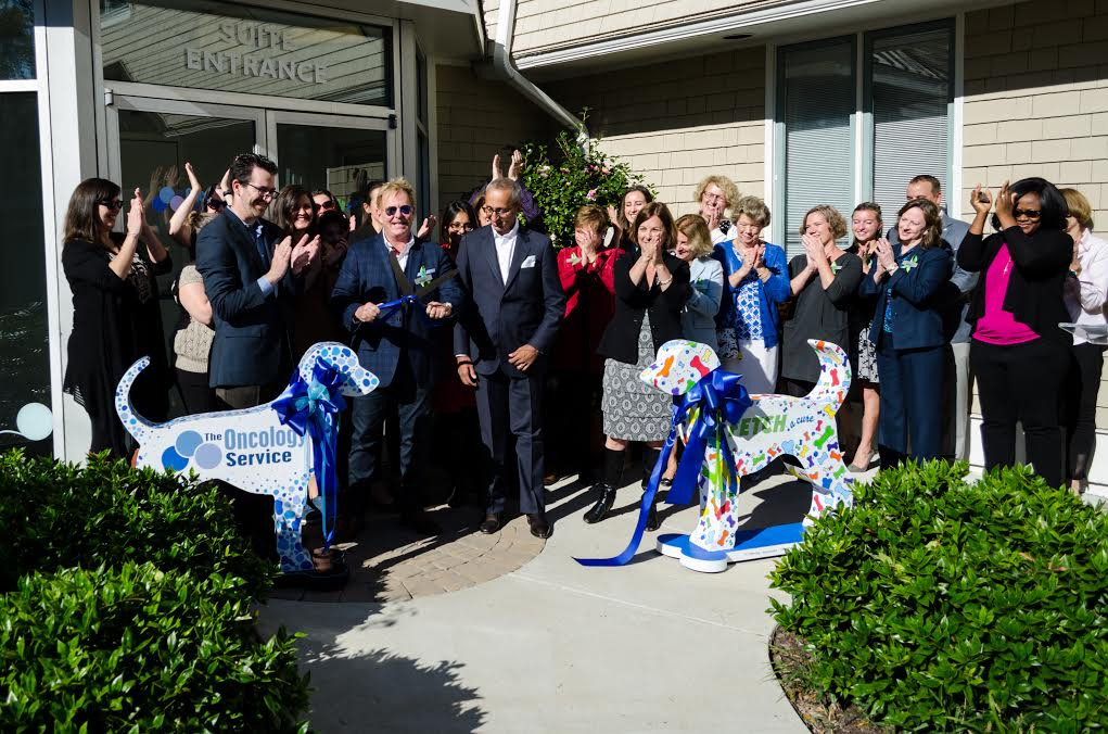 Commemoration for Richmond-area veterinary cancer center.