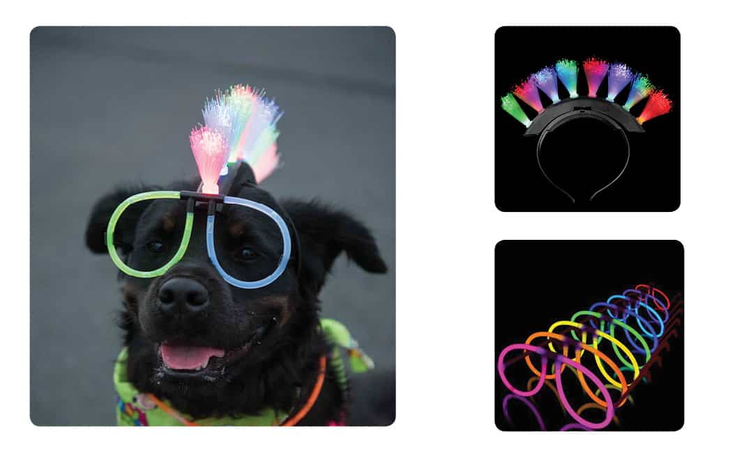 Glow In The Dark Mohawk and Sunglasses for Dogs Amazon